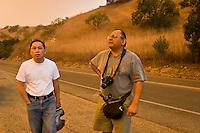 Brea Canyon Fire Residents, Diamond Bar, California