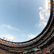 A fish eye view of Citi Field during the New York Mets Vs Arizona Diamondbacks MLB regular season baseball game at Citi Field, Queens, New York. USA. 10Th July 2015. Photo Tim Clayton
