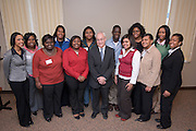 18583Black Student Business Caucus: Focus on the Future program for high school students Friday, Feb. 29th...Group Photo with Dean Sherman