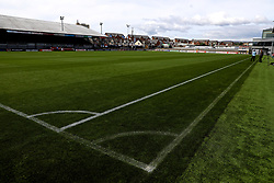 NEWPORT, WALES - Thursday, August 30, 2018: Touchlines drawn in during a training session at Rodney Parade ahead of the final FIFA Women's World Cup 2019 Qualifying Round Group 1 match against England. (Pic by David Rawcliffe/Propaganda)