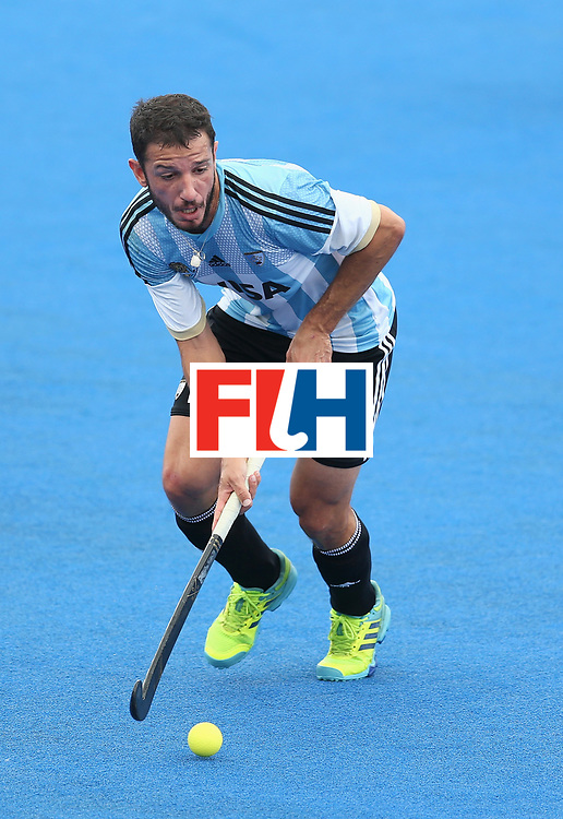 LONDON, ENGLAND - JUNE 24: Manuel Brunet of Argentina in action during the semi-final match between Argentina and Malaysia on day eight of the Hero Hockey World League Semi-Final at Lee Valley Hockey and Tennis Centre on June 24, 2017 in London, England. (Photo by Steve Bardens/Getty Images)