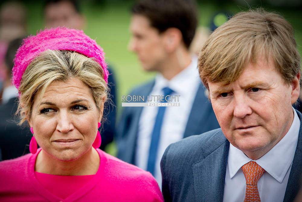 29-6-2017 NAGELE - King Willem-Alexander and Queen Maxima at Museum Nagele King Willem-Alexander and Queen Maxima attend a regional visit to Northeast Flevoland on Thursday, June 29, 2017. The King and Queen visit the places Urk, Nagele and Dronten. The former island of Urk has a rich history as a fishing village and develops as a knowledge center for the maritime sector. The rest of the area is a new country created by polishing. Originally, this area has a strong agricultural character and attaches importance to innovative and sustainable agriculture and food production. Northeast Flevoland is a leading supplier of wind energy. Nevertheless, the region is also facing challenges: after half a century, some villages and residential corridors add to a quality impulse. COPYRIGHT ROBIN UTRECHT<br /> 