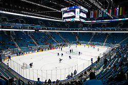 A general view of arena prior to ice hockey match between Lithuania and Belarus at IIHF World Championship DIV. I Group A Kazakhstan 2019, on April 29, 2019 in Barys Arena, Nur-Sultan, Kazakhstan. Photo by Matic Klansek Velej / Sportida
