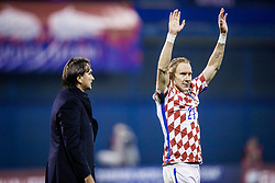 Domagoj Vida of Croatia during the football match between National teams of Croatia and Greece in First leg of Playoff Round of European Qualifiers for the FIFA World Cup Russia 2018, on November 9, 2017 in Stadion Maksimir, Zagreb, Croatia. Photo by Ziga Zupan / Sportida