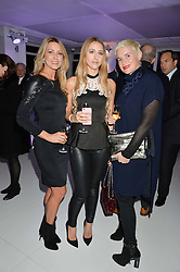 Left to right, ADRIANA MANASSCH, DIARA FERNANDA and JANE BURKE at the London premier of Being AP held at Altitude 360, Millbank Tower, 30 Millbank, London on 23rd November 2015.
