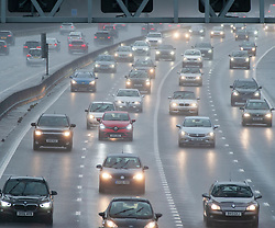 ©Licensed to London News Pictures 26/12/2019. <br /> Sevenoaks ,UK. Heavy Boxing day traffic on the M25 near Sevenoaks in Kent today as the wet and windy weather returns to parts of the UK.  Photo credit: Grant Falvey/LNP