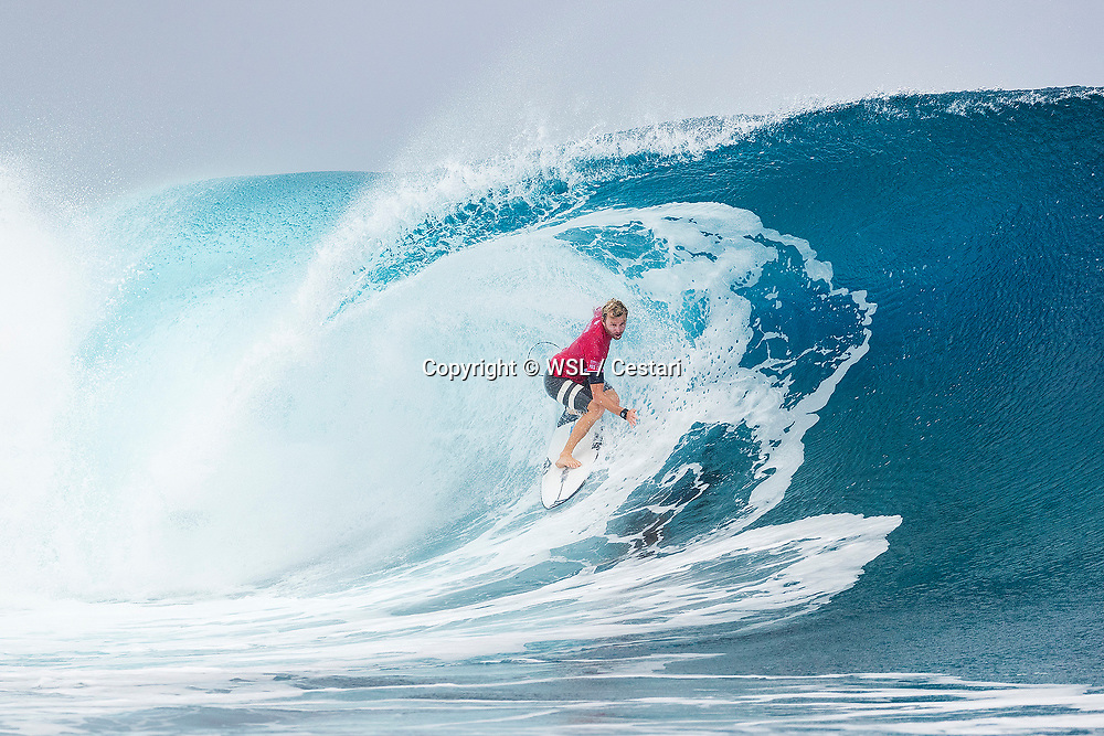 Adrian Buchan of Australia, current No.18 on the Jeep Leaderboard finished equal 9th in the Billabong Pro Tahiti after placing second to Julian Wilson of Australia in Heat 4 of Round Five at Teahupo'o, Tahiti.