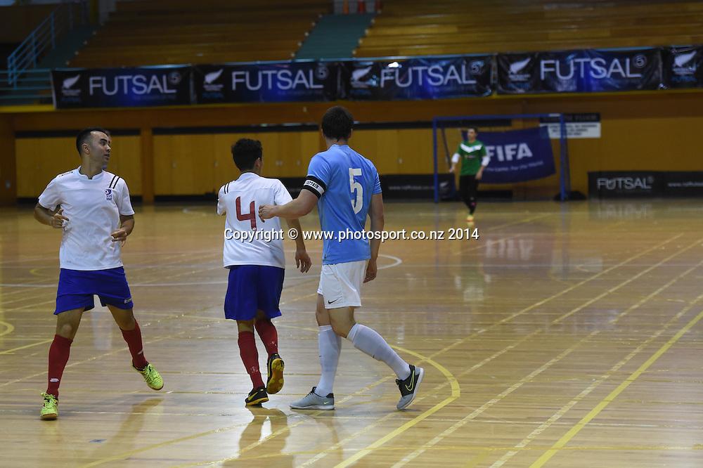 Central Futsal Hawkes Bay v AFF Futsal. National Futsal League, Series 3. ASB Stadium, Auckland, New Zealand. Friday 5 December 2014. Photo: Andrew Cornaga/photosport.co.nz