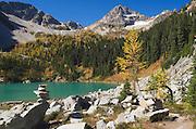 Lewis Lake and Black Peak, North Cascades Washington