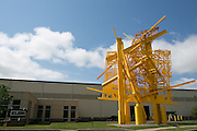 """A piece by Albert Paley, called """"Threshold,"""" at Klein Steel in Rochester on Thursday, May 28, 2015."""