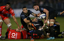 Baths' Kahn Fotuali'i during the European Rugby Champions Cup, Pool Five match at the Recreation Ground, Bath.