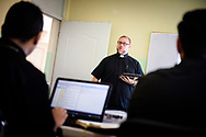 The Rev. Joel Fritsche, LCMS career missionary to the Dominican Republic, teaches at Concordia Reformer Lutheran Seminary and Mercy Center in Palmar Arriba, Dominican Republic, on Wednesday, Oct. 18, 2017. LCMS Communications/Erik M. Lunsford
