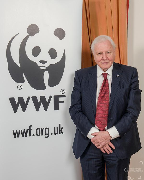 Sir David Attenborough at the Inaugural WWF Living Planet Lecture at The Royal Society, London. 3/11/2016