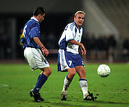07.10.2000, Olympic Stadium, Athens, Greece. .FIFA World Cup Qualifying match, Greece v Finland. .Jarkko Wiss - Finland.©JUHA TAMMINEN
