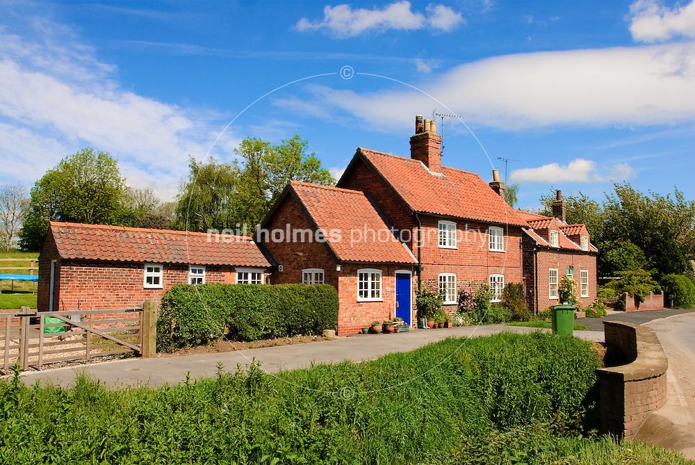 Lockington Village, East Yorkshire. House and cottage on Lund Road