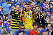 Columbus Crew fans celebrate following the third goal against FC Cincinnati during a MLS soccer game, Sunday, Aug 25th, 2019, in Cincinnati, OH. (Jason Whitman/Image of Sport)