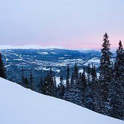 A wintry dawn in Breckenridge Colorado USA