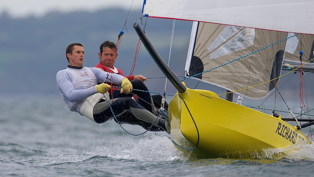 ENGLAND, Falmouth, Restronguet Sailing Club, 8th September 2009, International 14 Prince of Wales Cup Week, GBR1537 Alistair Richardson and Dan Johnson