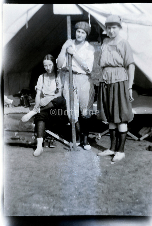girls camping 1920s USA