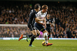Harry Kane of Tottenham Hotspur is challenged by Leighton Baines of Everton - Photo mandatory by-line: Rogan Thomson/JMP - 07966 386802 - 30/11/2014 - SPORT - FOOTBALL - London, England - White Hart Lane - Tottenham Hotspur v Everton - Barclays Premier League.