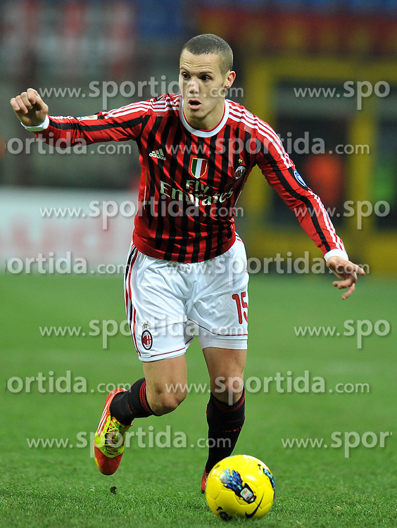 29.01.2012, Stadion Giuseppe Meazza, Mailand, ITA, Serie A, AC Mailand vs Cagliari Calcio, 20. Spieltag, im Bild Djamel MESBAH (Milan), // during the football match of Italian 'Serie A' league, 20th round, between AC Mailand and Cagliari Calcio at Stadium Giuseppe Meazza, Milan, Italy on 2012/01/29. EXPA Pictures © 2012, PhotoCredit: EXPA/ Insidefoto/ Alessandro Sabattini..***** ATTENTION - for AUT, SLO, CRO, SRB, SUI and SWE only *****
