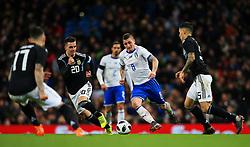 Marco Verratti of Italy takes on Giovani Lo Celso of Argentina - Mandatory by-line: Matt McNulty/JMP - 23/03/2018 - FOOTBALL - Etihad Stadium - Manchester, England - Argentina v Italy - International Friendly