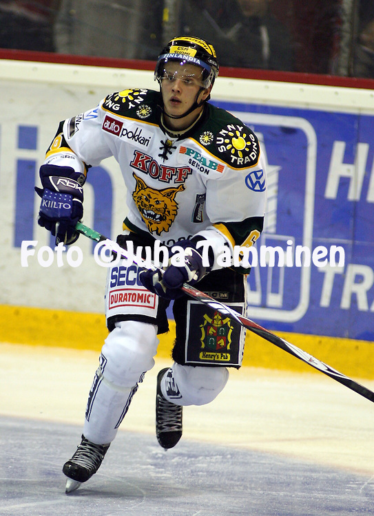 13.09.2008, Isom?en halli, Pori..J??kiekon SM-liiga 2008-09..?ss?t - Ilves.Joonas Lehtivuori - Ilves.©Juha Tamminen.....ARK:k