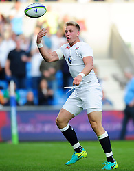 Harry Mallinder of England U20 celebrates his first try of the match - Mandatory byline: Patrick Khachfe/JMP - 07966 386802 - 25/06/2016 - RUGBY UNION - AJ Bell Stadium - Manchester, England - England U20 v Ireland U20 - World Rugby U20 Championship Final 2016.
