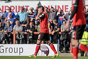 Morecambe Defender Peter Murphy during the EFL Sky Bet League 2 match between Morecambe and Carlisle United at the Globe Arena, Morecambe, England on 8 October 2016. Photo by Pete Burns.