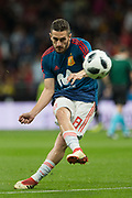 Koke of Spain warms up before the International friendly game football match between Spain and Argentina on march 27, 2018 at Wanda Metropolitano Stadium in Madrid, Spain - Photo Rudy / Spain ProSportsImages / DPPI / ProSportsImages / DPPI