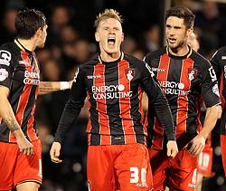 Bournemouth's Matt Ritchie celebrates his goal - Photo mandatory by-line: Robbie Stephenson/JMP - Mobile: 07966 386802 - 06/03/2015 - SPORT - Football - Fulham - Craven Cottage - Fulham v AFC Bournemouth - Sky Bet Championship