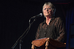 © Licensed to London News Pictures . 20/07/2013 . Suffolk , UK . Germaine Greer speaks in the Literary Arena . The Latitude music and culture festival in Henham Park , Southwold . Photo credit : Joel Goodman/LNP