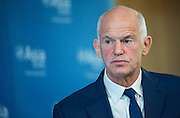 Hong Kong SAR, China. 2nd June 2016.George Papandreou gives a speech at the Asia Society of Hong Kong on Brexit. Papandreou served as the Prime Minister of Greece between 2009 and 2011, at the height of the Greek government debt crisis. He represented the Panhellenic Socialist Movement or PASOK. <br /> The European financial crisis and the refugee crisis that followed have played into the hands of Euro skeptics. Britain faces a national referendum on June 23 on whether to leave or remain in the European Union, which splits Britons and Europeans alike.