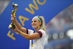July 7, 2019 - Lyon, France - Julie Ertz (Chicago Red Stars) of United States celebrates after winning the 2019 FIFA Women's World Cup France Final match between The United State of America and The Netherlands at Stade de Lyon on July 7, 2019 in Lyon, France. (Credit Image: © Jose Breton/NurPhoto via ZUMA Press)