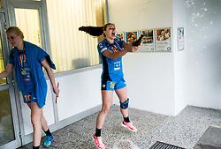Nina Zulic of RK Krim Mercator celebrates after the handball match between RK Krim Mercator and ZRK Z'Dezele Celje in Last Round of Slovenian National Championship 2016/17, on April 18, 2017 in Arena Galjevica, Ljubljana, Slovenia. Photo by Vid Ponikvar / Sportida