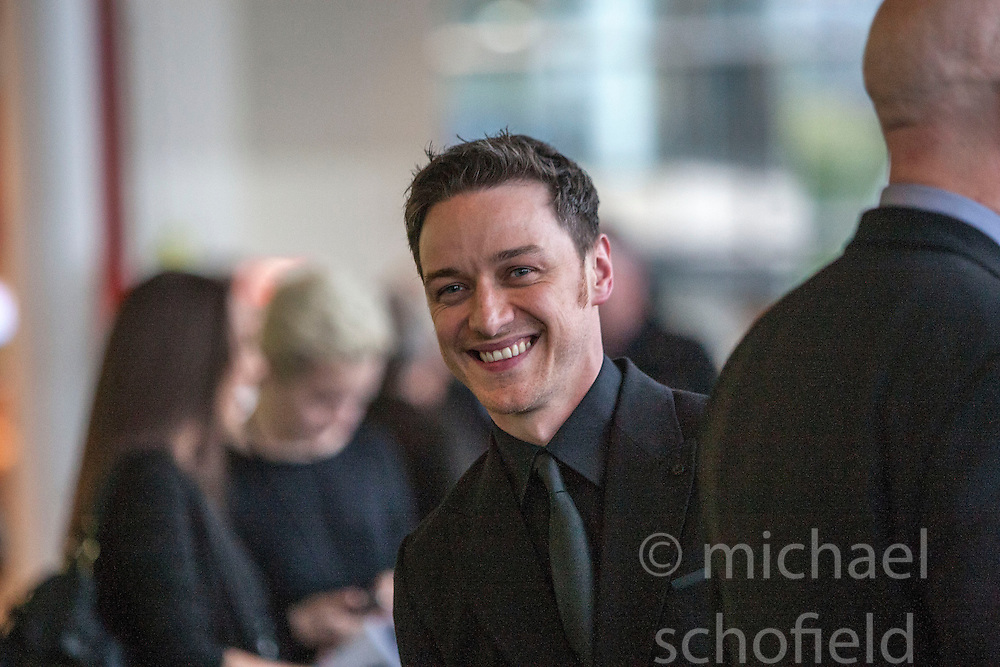 Irvine Welsh, James McAvoy.<br /> Edinburgh hosts the World Premiere of Filth at the Omni cinema.<br /> &copy;Michael Schofield.