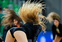 Green Ladies, cheerleaders of Cedevita Olimpija perform during basketball match between KK Cedevita Olimpija and Darussafaka Tekfen Istanbul in 1st Round of Eurocup 2019/20, on October 2, 2019 in Arena Stozice, Ljubljana, Slovenia. Photo by Vid Ponikvar / Sportida