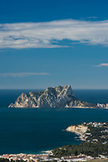 Ifach Penon mountain, Calpe, Mediterranean sea,Alicante province, Spain, Europe