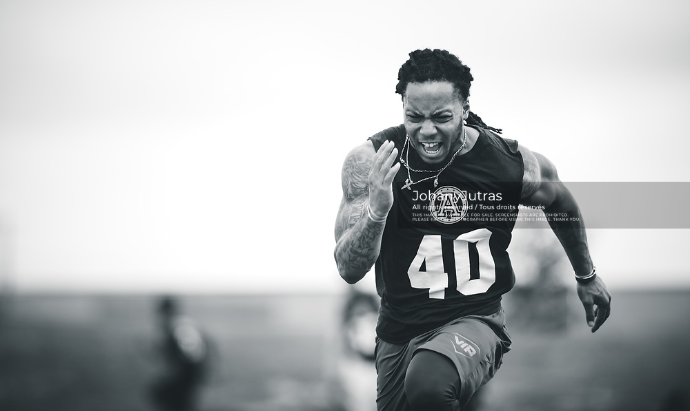 during the Toronto Argonauts mini-camp at IMG Academy in Bradenton, FL, Monday, April 24, 2017. (Photo: Johany Jutras)