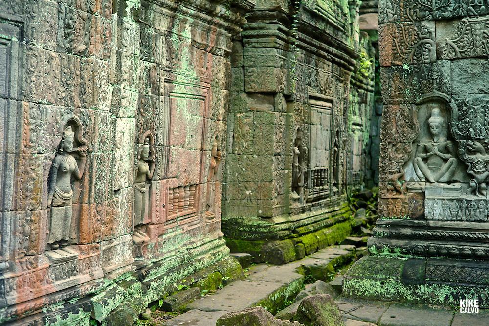 Ancient ruins of Preah Khan Temple, Angkor, Cambodia.    (Kike Calvo via AP Images)