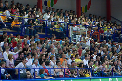 Spectators at second finals basketball match of Slovenian Men UPC League between KK Helios Domzale and KK Union Olimpija, on May 30, 2009, in SC Domzale, Domzale, Slovenia. (Photo by Vid Ponikvar / Sportida)
