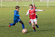 Arsenal Ladies Under 10 and AC Finchley boys team