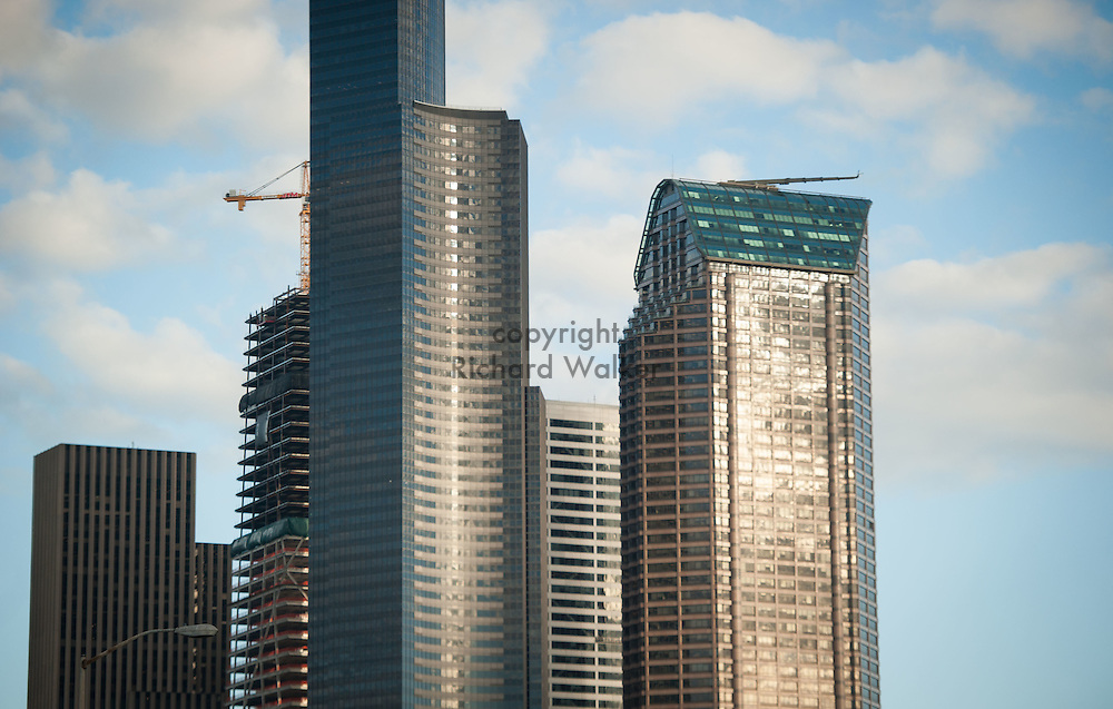 2016 October 11 - Columbia Tower, Seattle Municipal Tower and building under construction, downtown Seattle, WA, USA. By Richard Walker