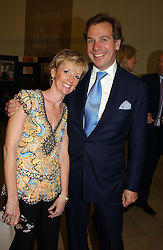 WILLIAM WORSLEY and MRS JAMES LONSDALE at the Depal Trust 2in1 Art Party at The National Portrait Gallery, London on 25th October 2004.<br />
