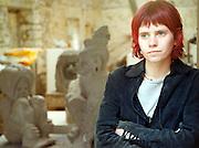 Artist, Katie Wilson, at The leitrim Sculpture Centre, Manorhamilton, Co. Leitrim. Photo: James Connolly/GreenGraph