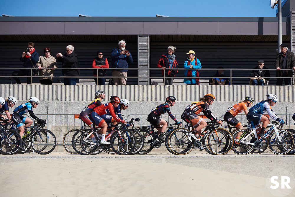 Alice Barnes (GBR) in the bunch at Healthy Ageing Tour 2019 - Stage 1, a 102.5 km road race starting and finishing in Borkum, Germany on April 10, 2019. Photo by Sean Robinson/velofocus.com