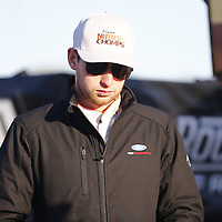 April 20, 2018 - Richmond, Virginia, USA: Chase Briscoe (60) gets ready to practice for the ToyotaCare 250 at Richmond Raceway in Richmond, Virginia.