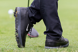 May 29, 2019 - Dublin, OH, U.S. - DUBLIN, OH - MAY 29: The Nike shoes of Rory McIlroy of Northern Ireland are seen as he waits to tee off on the 15th hole during the Pro-Am of the Memorial Tournament presented by Nationwide at Muirfield Village Golf Club on May 30, 2018 in Dublin, Ohio. (Photo by Adam Lacy/Icon Sportswire) (Credit Image: © Adam Lacy/Icon SMI via ZUMA Press)