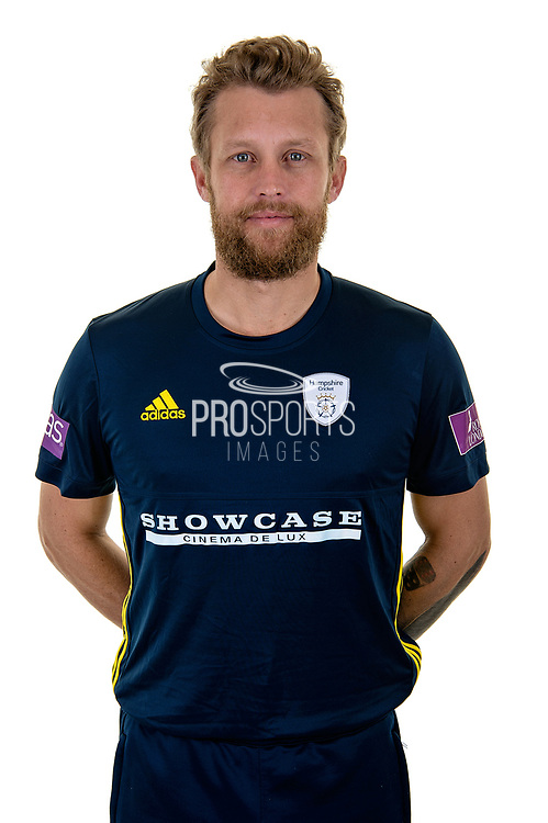 Gareth Berg of Hampshire in Royal London One Day Cup kit  during the Hampshire County Cricket Club Media Day at the Ageas Bowl, Southampton, United Kingdom on 10 April 2018. Picture by Dave Vokes.