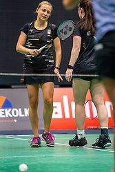Selena Piek and Cheryl Seinen during the Dutch Championships Badminton on February 1, 2020 in Topsporthal Almere, Netherlands